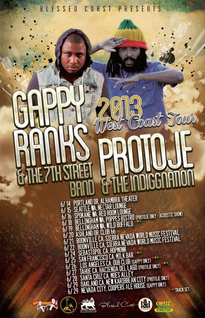 Protoje & Gappy Ranks West Coast Tour 2013