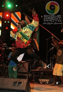 Anthony B Going for the Gold on Saturday Night at Reggae On The River 2013