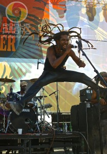 Stephen Newland of Rootz Underground Catching Some Serious Air on Sunday at Reggae On The River 2013