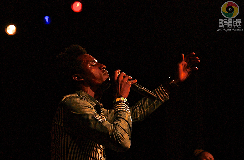 Romain Virgo feeling the moment at the Historic Ashland Armory on 2/22/14